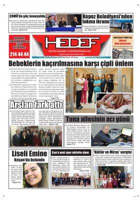 Çanakkale Hedef Gazetesi - 20.11.2018 Manşeti