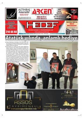 Çanakkale Hedef Gazetesi - 16.01.2019 Manşeti