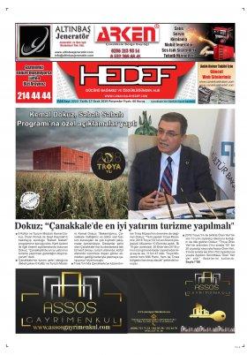 Çanakkale Hedef Gazetesi - 17.01.2019 Manşeti