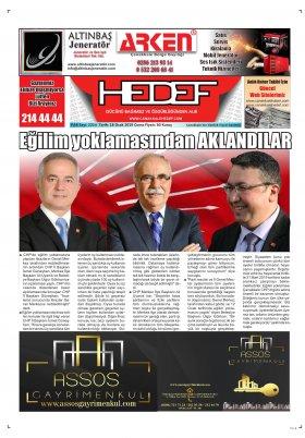 Çanakkale Hedef Gazetesi - 18.01.2019 Manşeti