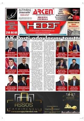 Çanakkale Hedef Gazetesi - 21.01.2019 Manşeti