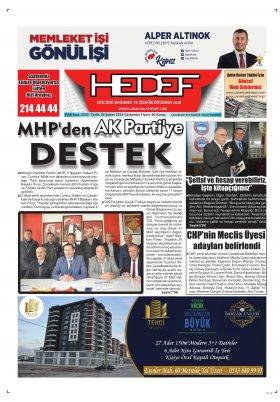 Çanakkale Hedef Gazetesi - 20.02.2019 Manşeti