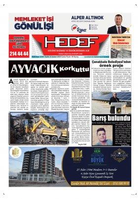 Çanakkale Hedef Gazetesi - 22.02.2019 Manşeti