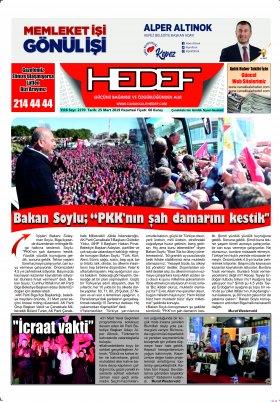 Çanakkale Hedef Gazetesi - 25.03.2019 Manşeti
