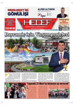 Çanakkale Hedef Gazetesi - 26.03.2019 Manşeti