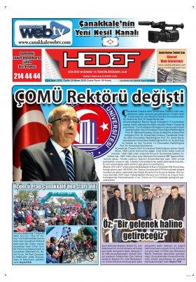 Çanakkale Hedef Gazetesi - 19.04.2019 Manşeti