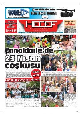 Çanakkale Hedef Gazetesi - 24.04.2019 Manşeti
