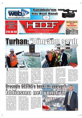 Çanakkale Hedef Gazetesi - 27.05.2019 Manşeti