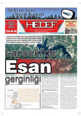 Çanakkale Hedef Gazetesi - 14.06.2019 Manşeti