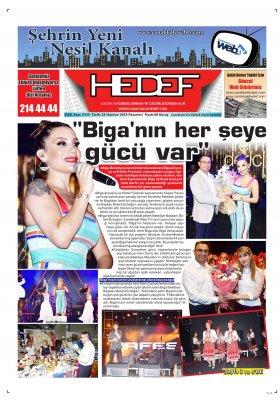 Çanakkale Hedef Gazetesi - 24.06.2019 Manşeti