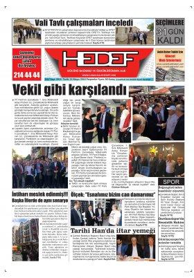 Çanakkale Hedef Gazetesi - 24.05.2018 Manşeti