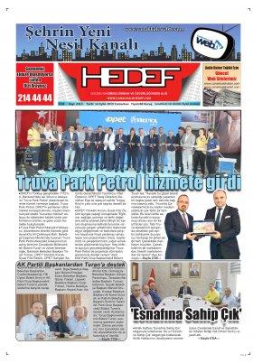 Çanakkale Hedef Gazetesi - 14.09.2019 Manşeti