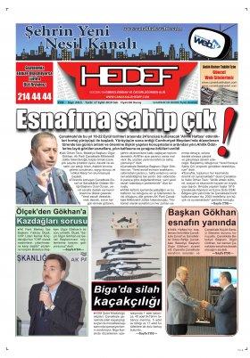 Çanakkale Hedef Gazetesi - 17.09.2019 Manşeti