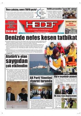 Çanakkale Hedef Gazetesi - 12.10.2018 Manşeti