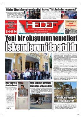 Çanakkale Hedef Gazetesi - 22.10.2018 Manşeti