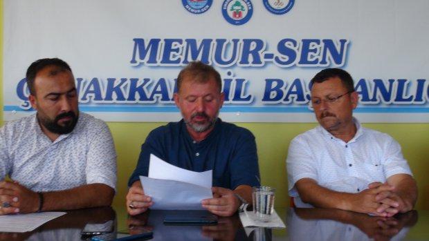 Memur-Sen Çanakkale şubesi basın açıklaması