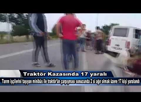 Çanakkale'de Traktör Kazası 17 Yaralı