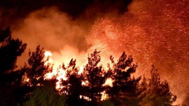 Tarihi alanda yangın