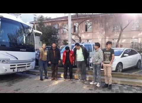İskelede 32 kaçak yakalandı