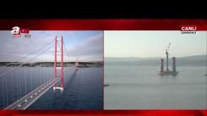Köprü ayaklarının yüksekliği 50 metreye ulaştı