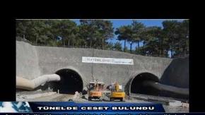 Tünelde ceset bulundu